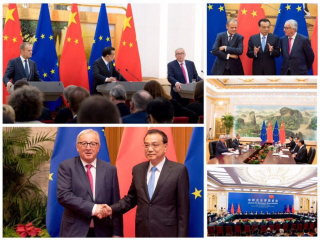 Il presidente Juncker al 20° vertice UE-Cina